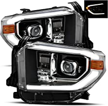 AlphaRex For 14-19 Toyota Tundra Black TRD-PRO look Projector Headlights Left/Right Replacement Assembly