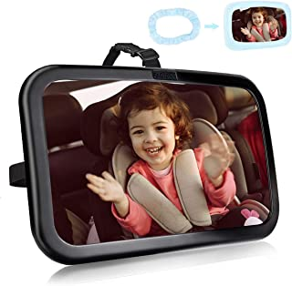 FACIACC babyautospiegels voor achterbank, 360 ° rotatie achteruitkijkspiegel autostoel spiegel Veiligste onbreekbare babys...
