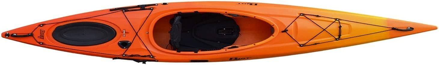 Riot Kayaks Edge 11 LV Flatwater Day Touring Kayak (Yellow/Orange, 11-Feet)