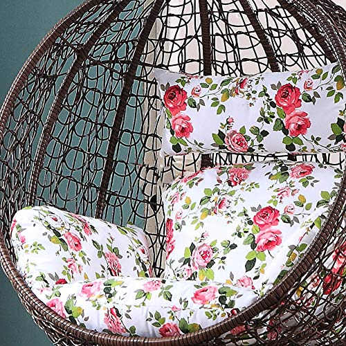 MSM Furniture Hanging Egg Nest Seat Cushions,extra-comfortable Soft Removable Swing Wicker Chair Cushion Hanging Basket Cradle Cushion E