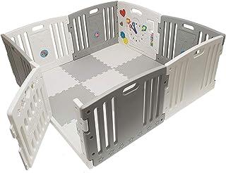 Parc pour bébé Venture all stars duo gris comprend des tapis de jeu et des balles