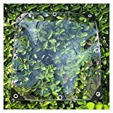 HLLING Lona Transparente Plegable Cortina De Lluvia Transparente 0,35mm De Espesor Cubierta De Dosel A Prueba De Lluvia para Jardinería Lonas Impermeables (Color : Clear, Size : 1.75x6m)
