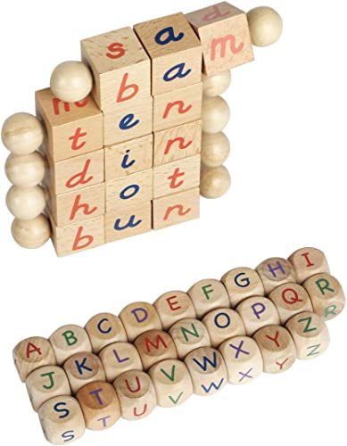 2021 ROBUD 2021 Wooden Reading Blocks Montessori Toys for Toddlers Kindergarten Reading Toys sale for Kids Beginner Readers outlet online sale