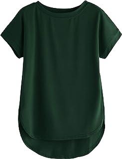 Fabricorn Stylish Plain Up and Down Cotton Tshirt for Women