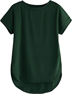 Fabricorn Plain Up and Down Cotton Tshirt for Women