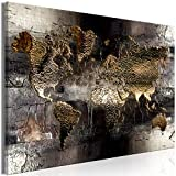 decomonkey Bilder Weltkarte 120x80 cm 1 Teilig Leinwandbilder Bild auf Leinwand Vlies Wandbild Kunstdruck Wanddeko Wand Wohnzimmer Wanddekoration Deko Landkarte Abstrakt
