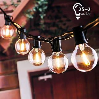 tronisky Guirnaldas Luminosas, Guirnalda de Luces Impermeable Guirnalda Cadena de Luces 7.62M con 25 G40 Bombillas Decoración Exterior y Interior para Jardín, Patio, Navidad, Casa, Boda