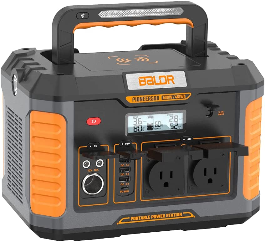 Baldr Portable Power Station Baltimore Mall Pioneer Generator 461Wh 500W Solar Many popular brands