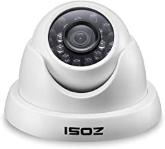 ZOSI 1000TVL CCTV Camera 24 IR LEDs Indoor Outdoor Day Night Vision 65ft Security Dome Color Camera for DVR Surveillance System (White)