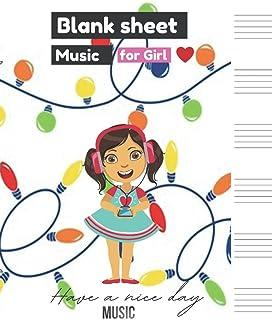 Blank Sheet Music for Girl,, Bright glowing bulb light decoration christmas decorative element colorful garland illustrati...