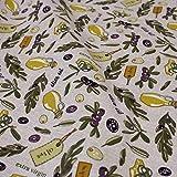 Hans-Textil-Shop 1 Meter Stoff Meterware Oliven