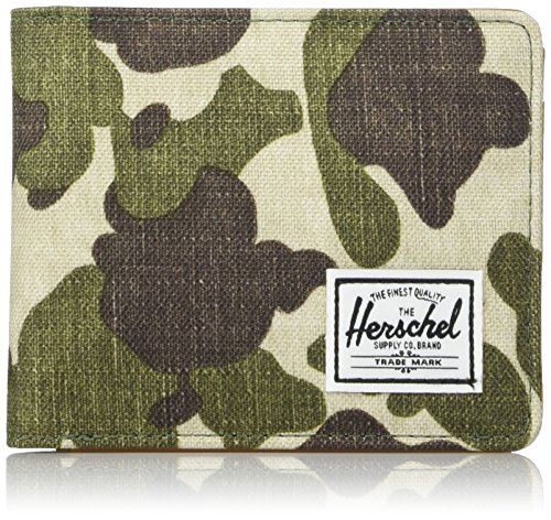 Herschel Hank RFID, Frog Camo/Tan Synthetic Leather, One Size