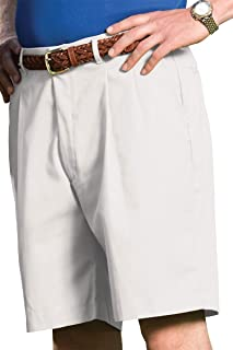 Men's Business Casual Pleated Front Chino Short