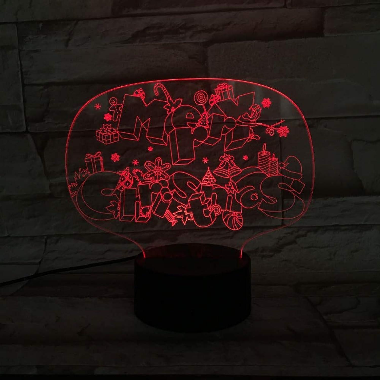 WZYMNYD Kreative 7 Farben Atmosphre USB Tischlampe Frohe Weihnachten Led 3D Weihnachten Spielzeug Geschenk Nachtlicht Für Kinder Baby Schlaf Beleuchtung Dekor