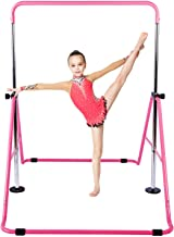 KidoGym Gymnastic Bars for Kids with Adjustable Height, Folding Gymnastic Training Kip Bar for Home, Junior Expandable Hor...