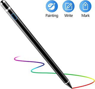 Active Stylus Pen for Touch Screens, Mekkoz Rechargeable Pencil Digital Stylus Pen Compatible with iPad and Most Tablet (Black)