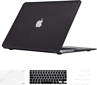 i-Buy 4in1 Kit Matte Hard Shell Case + Keyboard Cover + Screen Protector + Dust Plug for Apple Macbook Air 13 inch (Model A1369/A1466) - Black