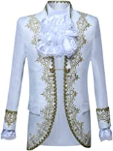 Succper Men's European Medieval Style Court Costumes Military Dress Prince Clothes Gothic Banquet