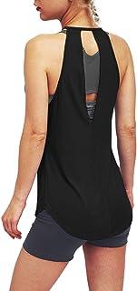 Bestisun Women's Workout Yoga Tops Halter Spaghetti Strap Tank Tops Sports Camisole Racerback Shirts