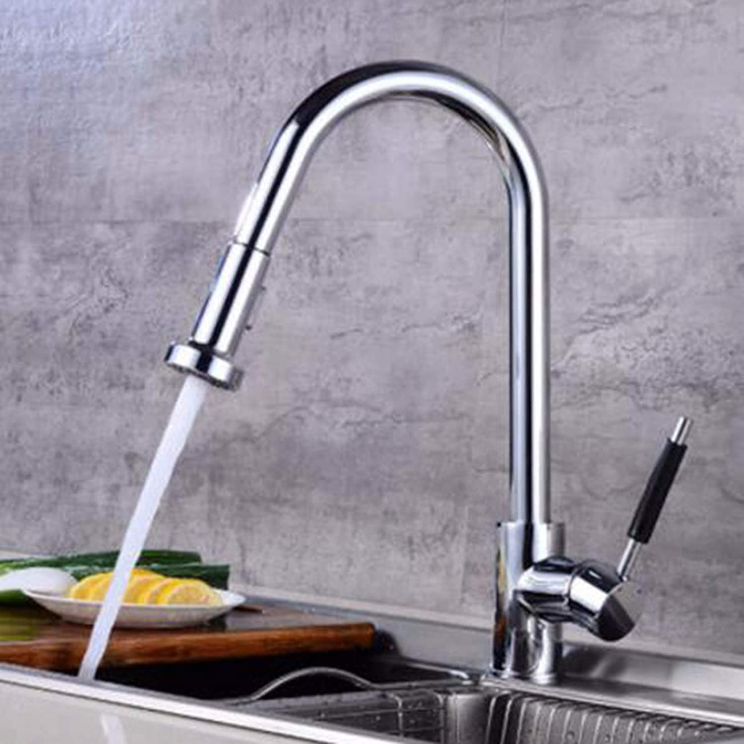 European Kitchen Faucet Flume Faucet Swivel Faucet Led Kitchen Hot And Cold Faucet