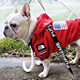 """""""Dog Face"""" Dogs Raincoat for Small Medium Large Dog,Dogs Waterproof Polyester Coat,Dogs Jackets for All Seasons (Red, 3XL)"""