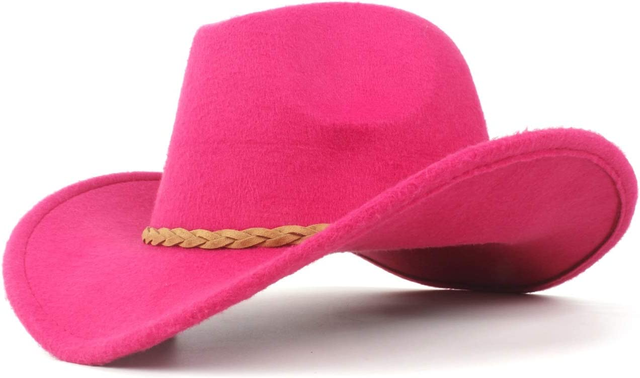 Outlet sale feature Opled Winter Wool OFFicial mail order Felt Cowboy Hat Rope Woven for Women Sombrero