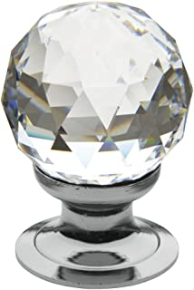 Baldwin Estate 4334.260.S Cut Swarovski Crystal Ball Cabinet Knob in Chrome