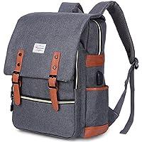 Modoker Vintage Laptop Backpack with USB Charging Port Fashion