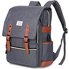 "◆ DIMENSION: 11.8""L x 16.5""H x 5.1""W; Capacity: 25L; Fit for Laptop up to 15.6 Inch. ◆ SPECIAL FUNCTIONS: With External USB charging port & set-in charging cable, Modoker Backpack offer a convenient way for you to charge your electronic device when w..."