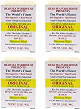 Dead Sea Warehouse - Amazing Minerals Original Face and Body Bar, Soothing Dead Sea Minerals Support Clear and Healthy Skin, Great for All Skin, Sensitive Skin Friendly (Unscented, 3.5 Ounces, 4-Pack)