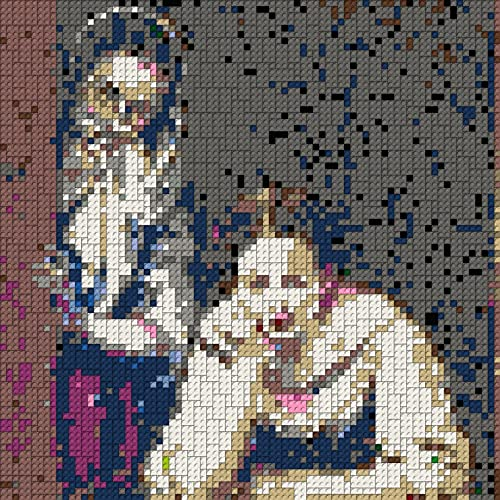 The Girl With A Pearl Earring Mosaik - 80 x 80 studs, upright