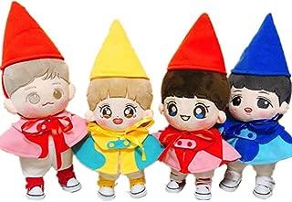 VogueMing Kpop EXO Baekhyun Chanyeol Sehun Lay Melody Fairy Plush Doll's Clothes+ Hat+ Shoes【no Doll】 (Chanyeol, Only Clothes+hat+Shoes)