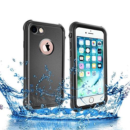 ShellBox Custodia Impermeabile per iPhone 7/8, Custodia Antiurto di Protezione per Il Corpo Completa per iPhone 7/8(Nero)