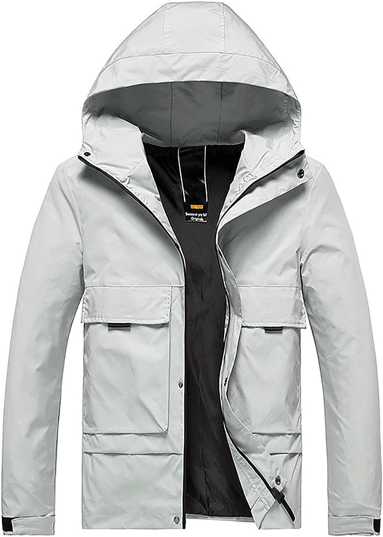 Men's Hooded Thin Jacket Trendcoat Sports Coat All-match Trend Casual Jacket