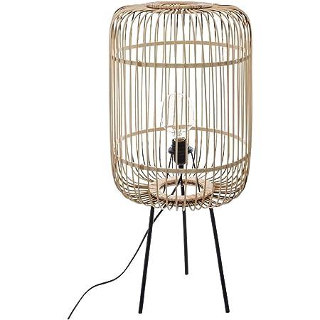 Atmosphera - Lampadaire Lampe en Bambou Trépied en métal EADS H 73.5 cm