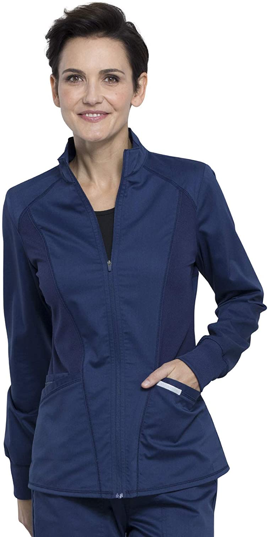 Workwear Revolution Women Scrubs Jacket Zip Front High-Low WW301