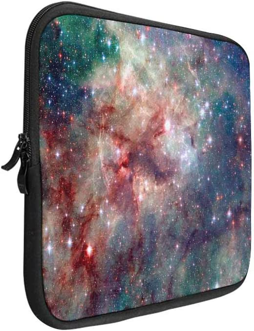 INTERESTPRINT Laptop Carrying Bag Tie Dry Heart Shape Notebook Sleeve Case Cover 14 Inch 14.1 Inch