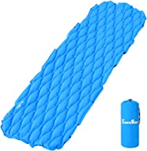 Backpacking Sleeping Pad Sleeping pad Hiking and Traveling- Compact Air Cell and Portable Ultralight Inflating Sleeping Pad Camping Mat with Pillow for Camping ALUCKY