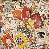 Monkeybrother 32Pezzi, Cartoline Vintage, Antica Europa, viaggio...