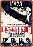 Forry Led Zeppelin In Dallas Metall Poster Retro