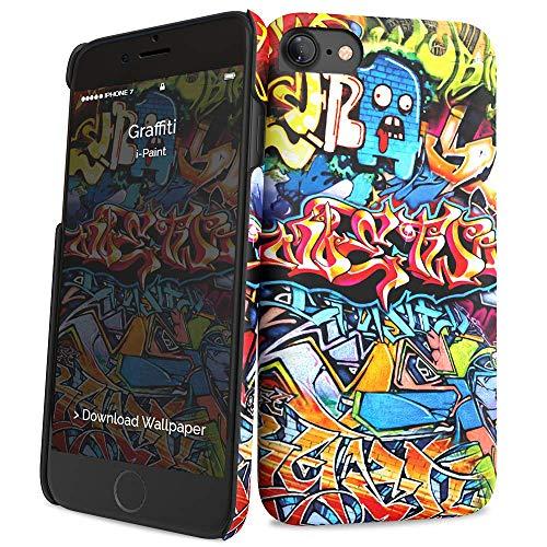 i-Paint Cover Hard Case per iPhone 8/7/SE 2020, Modello Graffiti