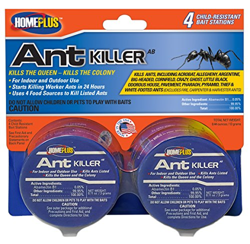 PIC 4PK AB Homeplus Ant Killer Metal Bait Stations, 4 Count, Multicolor