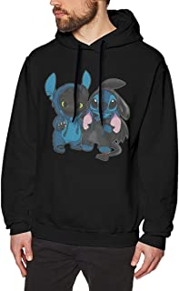 Stitch and Toothless Man Motion Keep Warm Hoodie