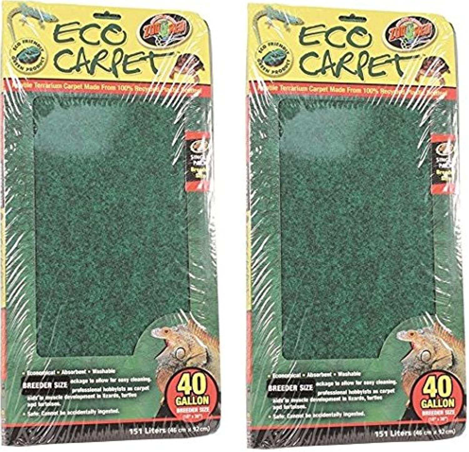 (2 Pack) Zoo Med Repti Cage Carpet 18  x 36  Each