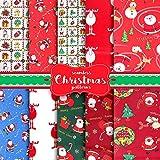 10 Stück Baumwollstoff Weihnachten Stoffpakete Patchwork