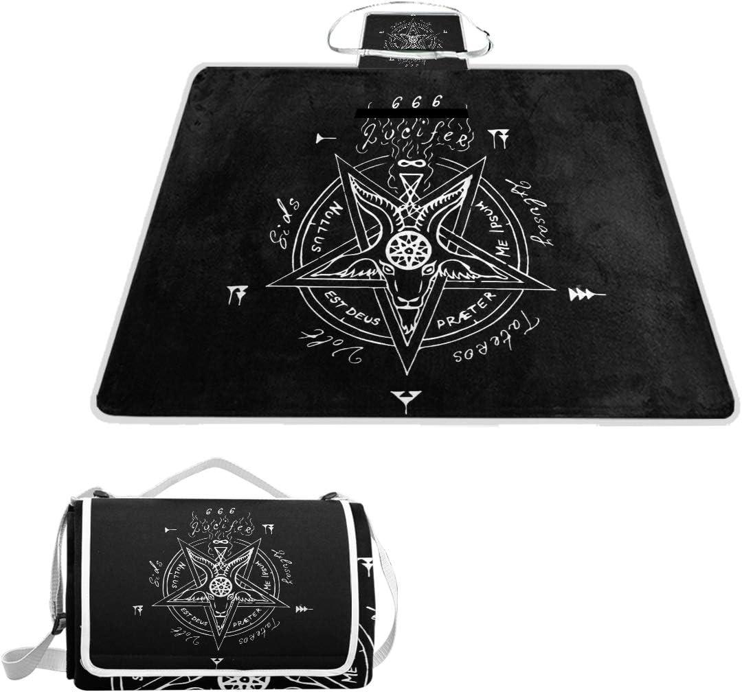 SLHFPX 安心の定価販売 Satan Satanic Goat 迅速な対応で商品をお届け致します Pentagram Picni Blanket Outdoor Picnic
