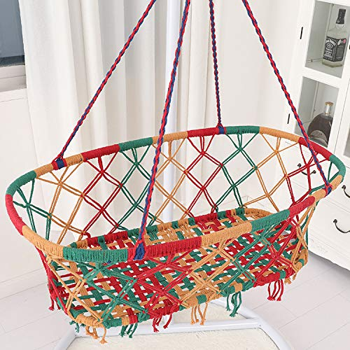 MyWheelieBin Cotton Rope Net Baby Children Gondola Cradle Coax Baby Oval cradle