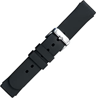 Speidel Silicone Replacement Black Watch Band in 18mm and 20mm