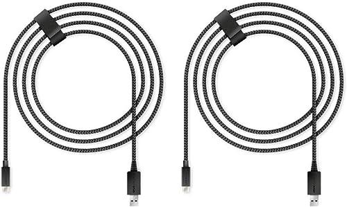 Lioncast 2x Xbox / PS5 câble usb c charge rapide de 4 m pour Xbox Series S (XSS)/ Xbox Series X (XSX) & Sony PlayStat...
