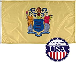 Vispronet - New Jersey State Flag - 3ft x 5ft Knitted Polyester, State Flag Collection, Made in The USA (Flag Only)